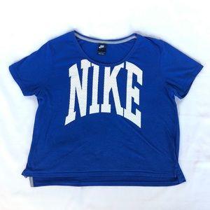 Nike blue sports T shirt